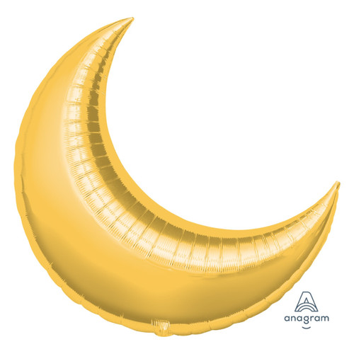 "35"" Giant Crescent Foil Balloon - Metallic Gold"