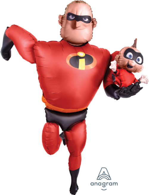 Jumbo Mr Incredible and Jack Jack Airwalker Balloon