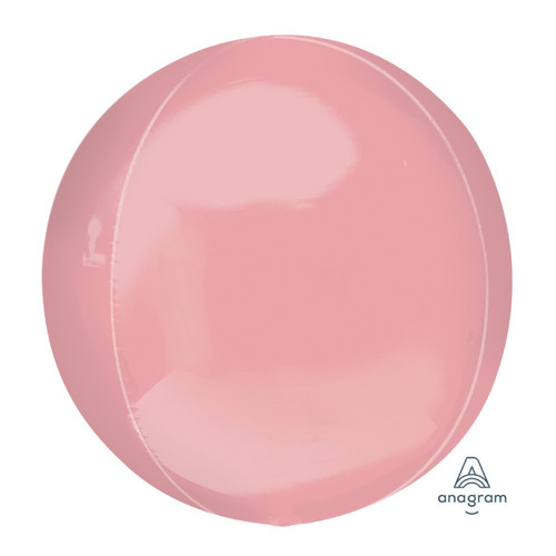 "[Orbz] 16""/41cm Pastel Pink Sphere Shaped Balloon"