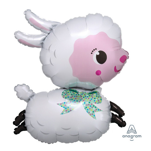 [Animal] Bubbly Lamby Foil Balloon (28inch)