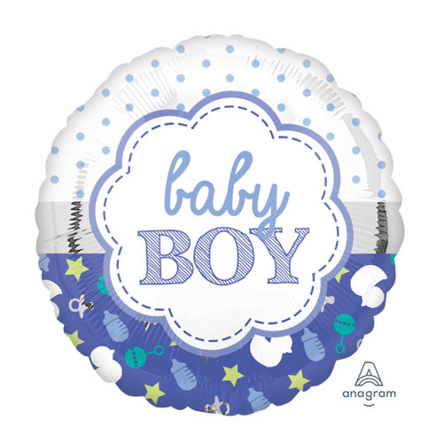 2 in 1 Baby Boy Design Foil Balloon (18inch)