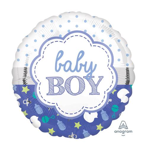 2 in 1 Baby Boy Design Foil Balloon (18inch)