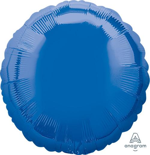 """17"""" Round Foil Balloon - Metallic Dark Blue"""