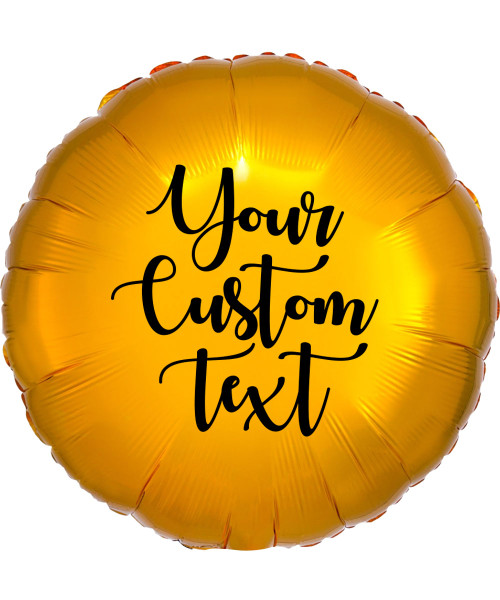 "17"" Personalised Round Foil Balloon - Metallic Gold"