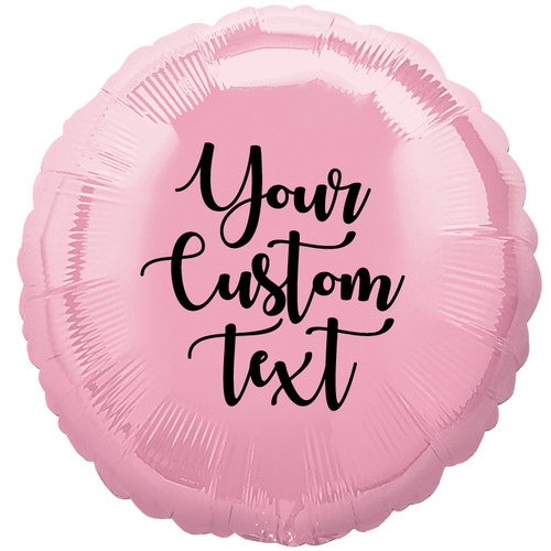"17"" Personalised Round Foil Balloon - Metallic Pink"