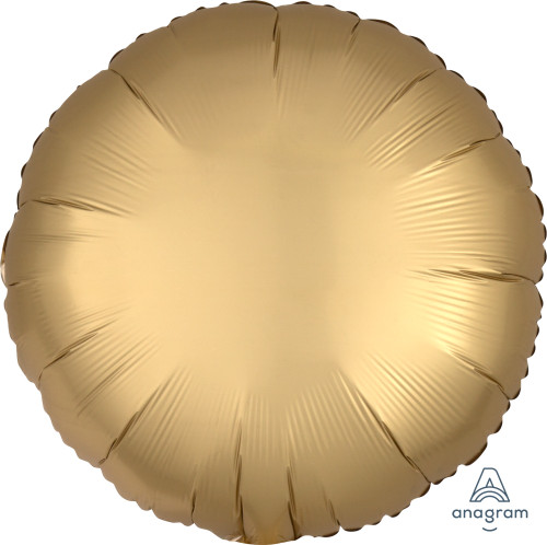 "17"" Satin Luxe Round Foil Balloon - Gold Sateen"