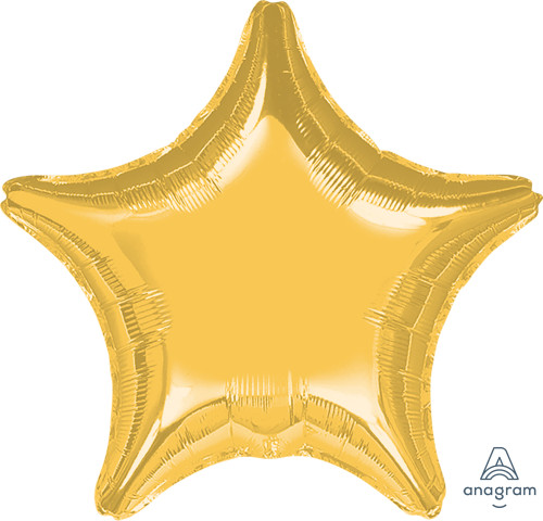 "32"" Giant Star Foil Balloon - Metallic Gold"