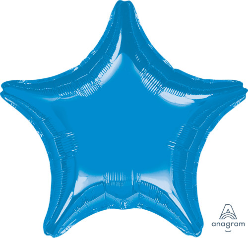 "32"" Giant Star Foil Balloon - Metallic Dark Blue"