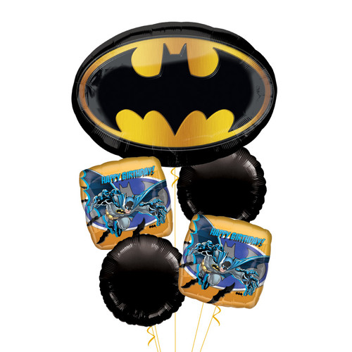 Batman Emblem Happy Birthday Balloons Bouquet