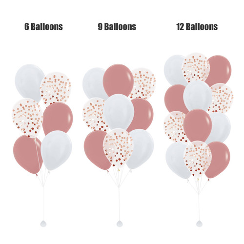 12'' Round Confetti (1cm) Balloons Cluster - Fashion Color