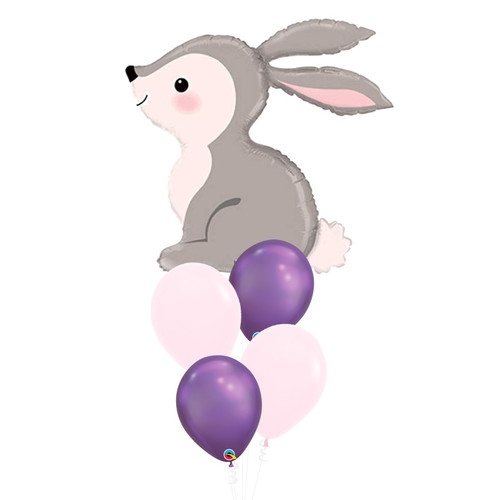 [Animal] Sweet Woodlands Rabbit Bunny Chrome Balloon Bouquet