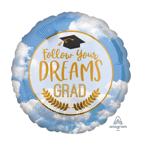 Follow Your Dreams Grad Foil Balloon (18inch)