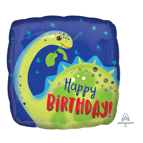 Brontosaurus Happy Birthday Foil Balloon (18inch)