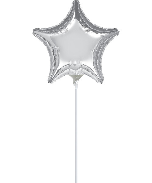 "4""/10cm Mini Star Foil Balloon - Silver"