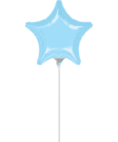 "4""/10cm Mini Star Foil Balloon - Metallic Pearl Pastel Blue"