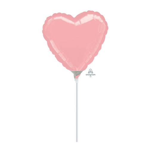 "9""/23cm Small Heart Foil Balloon - Pastel Pink"