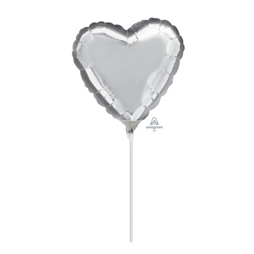 "9""/23cm Mini Small Foil Balloon - Silver"