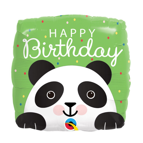[Animal] Birthday Panda Square Foil Balloon (18inch)