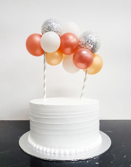 [Petit] Create Your Own Metallic Confettis Organic Balloon Garland Cake Topper - Metallic Color