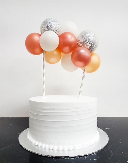 [Petit] Create Your Own Metallic Confettis Organic Balloon Garland Cake Topper - Metallic Color