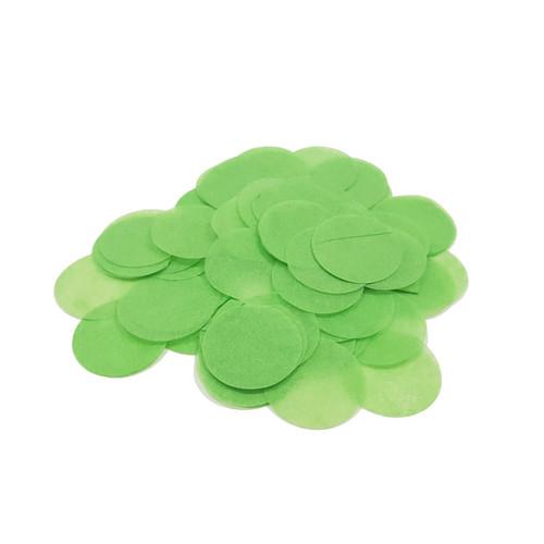 10gram Paper Round Confettis (2.5cm) - Leaf Green