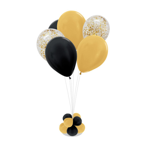 Metallic Confettis 105cm tall Balloon Stand - Metallic Color