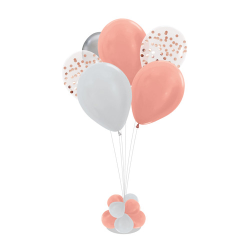 Metallic Mini Round Confettis 105cm tall Balloon Stand - Metallic Color