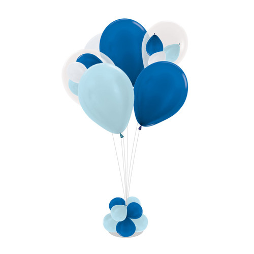 "11"" Triplet Balloon 105cm tall Balloon Stand - Metallic Color"