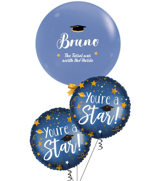 Personalised Name Jewel The Tassel Was Worth The Hassle Balloons Bouquet