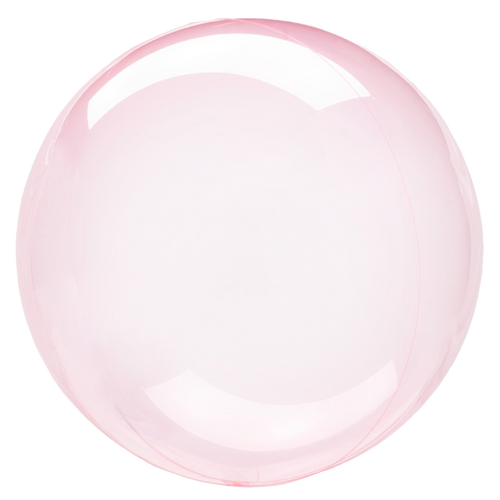 "[Crystal Clearz] 18""/45cm Crystal Clearz Bubble Balloon - Dark Pink"