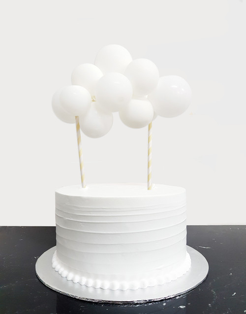 [Petit] Create Your Own Organic Balloon Garland Cake Topper - Snow White Puffy Cloud
