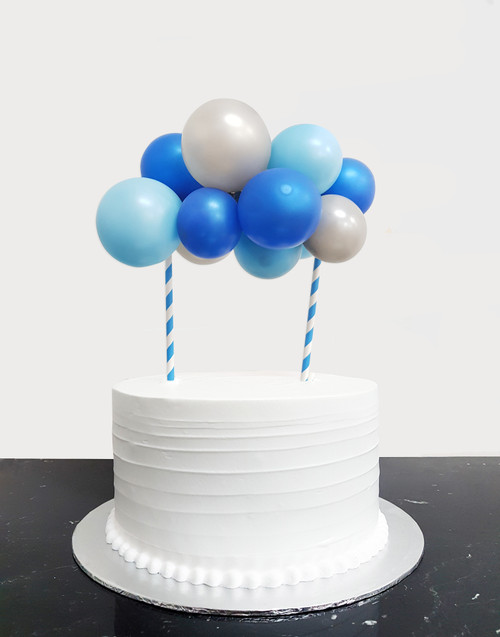 [Petit] Create Your Own Metallic Organic Balloon Garland Cake Topper - Metallic Color