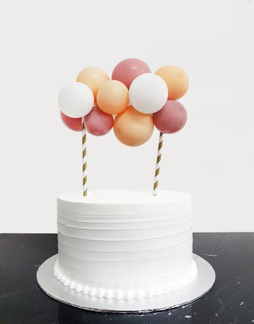 [Petit] Create Your Own Fashion Organic Balloon Garland Cake Topper - Fashion Color
