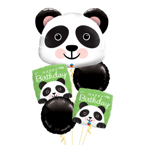 [Animal] Precious Panda Happy Birthday Balloons Bouquet