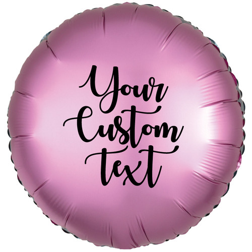 "18"" Personalised Satin Luxe Round Foil Balloon - Flamingo"