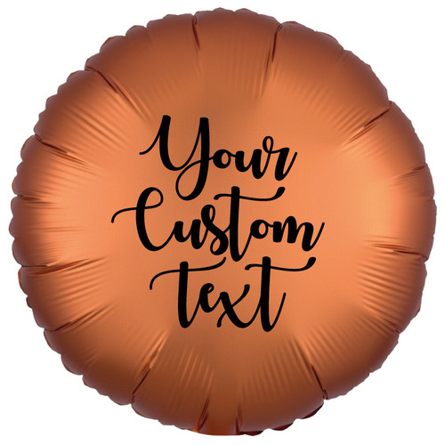 "18"" Personalised Satin Luxe Round Foil Balloon - Amber"