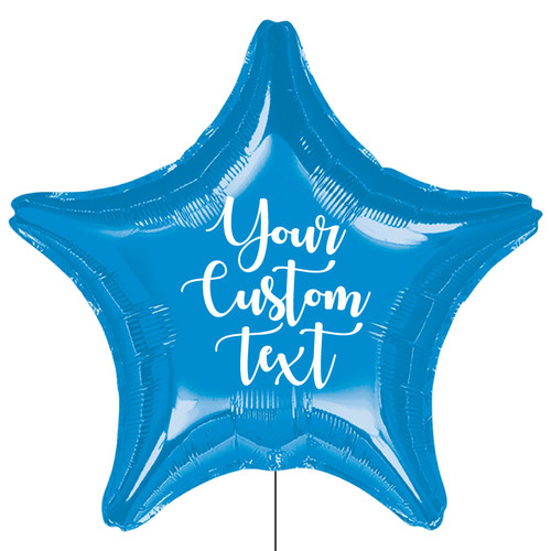 Personalised Giant Star Foil Balloon - Metallic Dark Blue