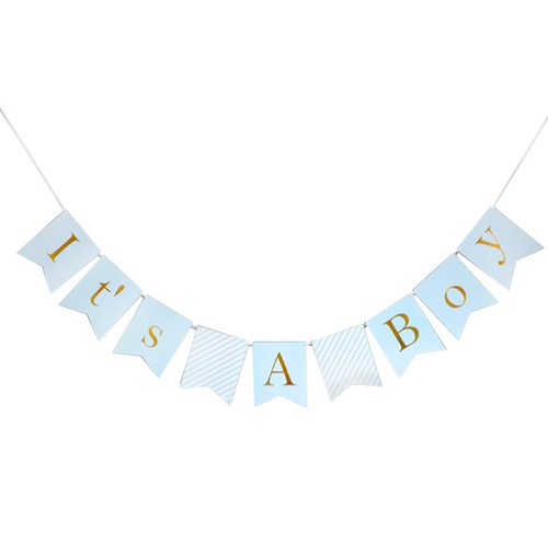 It's A Boy Bunting (2.8meter) - Light Blue