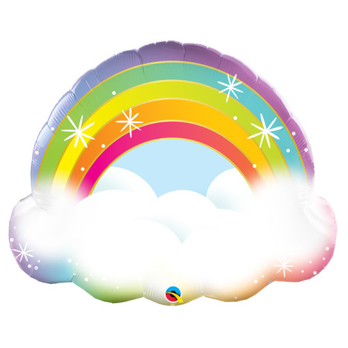 Sparkling Rainbow Clouds foil Balloon (32inch)