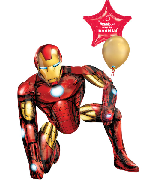 [To My SUPERDAD] Thanks for being my Iron Man Jumbo Airwalker Balloon Set