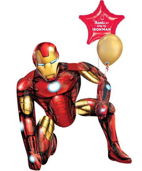[Superhero] Thanks for being my Iron Man Jumbo Airwalker Balloon Set