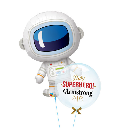 [Father's Day] Astronaut Hello Superhero Balloons Bouquet
