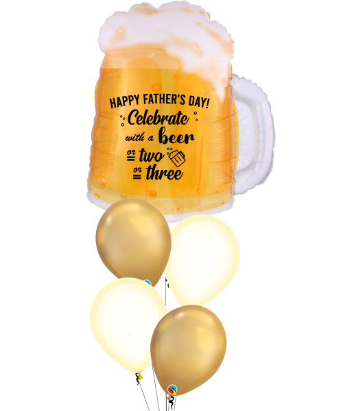 [To My SUPERDAD] Happy Father's Day! Celebrate with a beer or two or three Beer Mug Balloons Bouquet