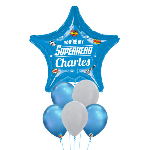 [Father's Day] You're my Superhero Balloon Bouquet - Blue