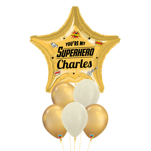 [Father's Day] You're my Superhero Balloon Bouquet - Gold