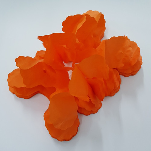 Tissue Paper 4-Leaf Clover Garland (3.6 meter) - Orange