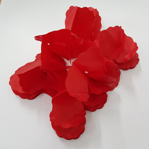 Tissue Paper 4-Leaf Clover Garland (3.6 meter) - Red