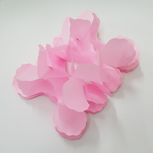 Tissue Paper 4-Leaf Clover Garland (3.6 meter) - Light Pink