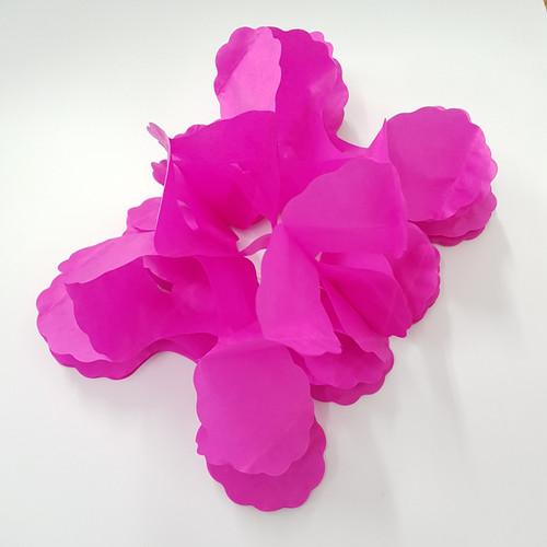 Tissue Paper 4-Leaf Clover Garland (3.6 meter) - Hot Pink