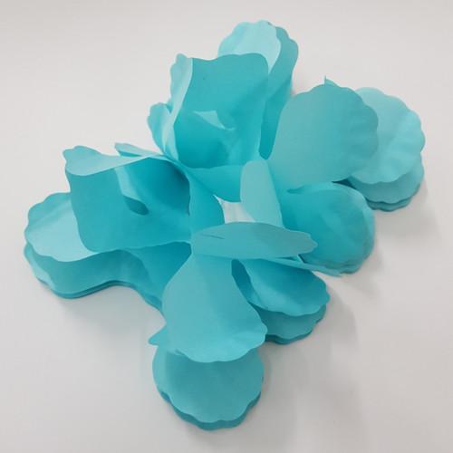 Tissue Paper 4-Leaf Clover Garland (3.6 meter) - Turquoise